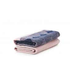 Ekko Throw Blanket navy/rose