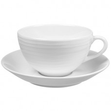 Blond Cup with Saucer Stripes