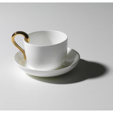 Чашка и блюдце Mine cup & saucer Gold DESIGN HOUSE STOCKHOLM