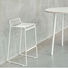 HEE BAR STOOL HIGH H75 WHITE