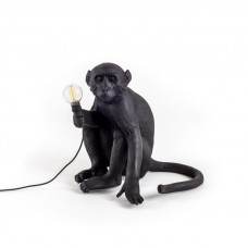 The Monkey Lamp Black Sitting Version