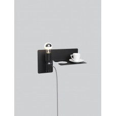 sunday wall light - BLACK