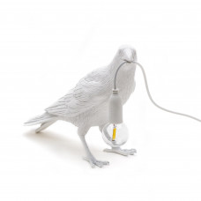 Bird Lamp White Waiting