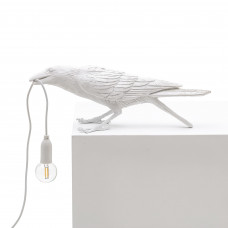 Bird Lamp White Playing