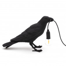 Bird Lamp Black Waiting
